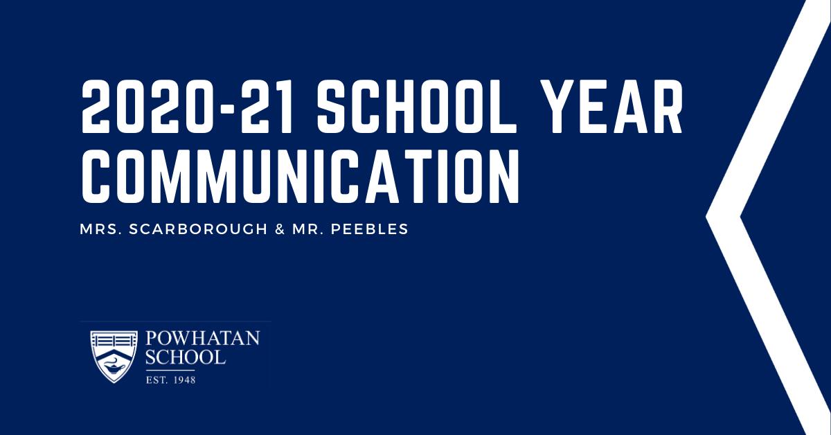 Powhatan School Update (6/16/20)